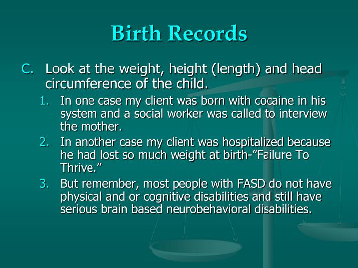 Birth Records