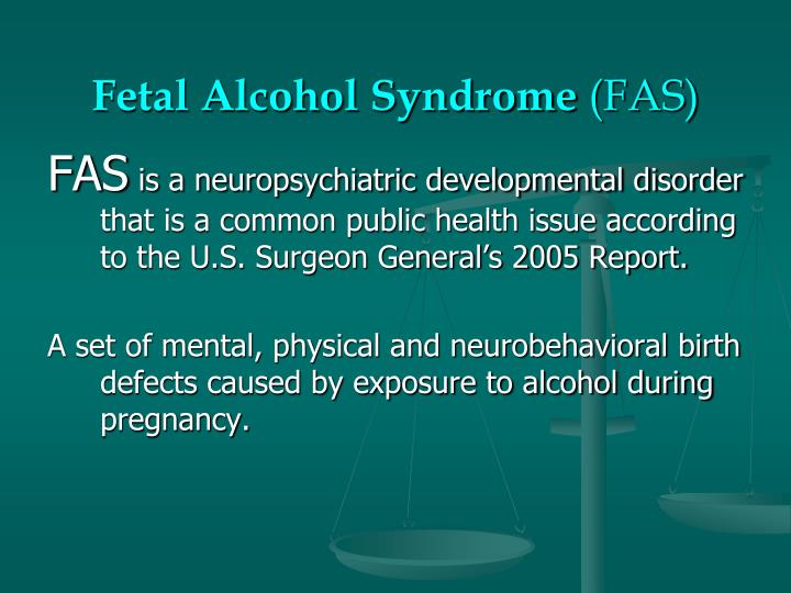 Fetal alcohol syndrome fas