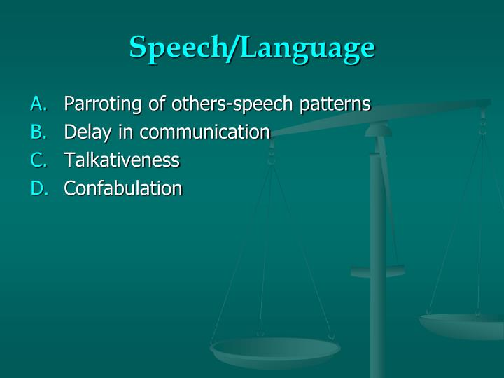 Speech/Language