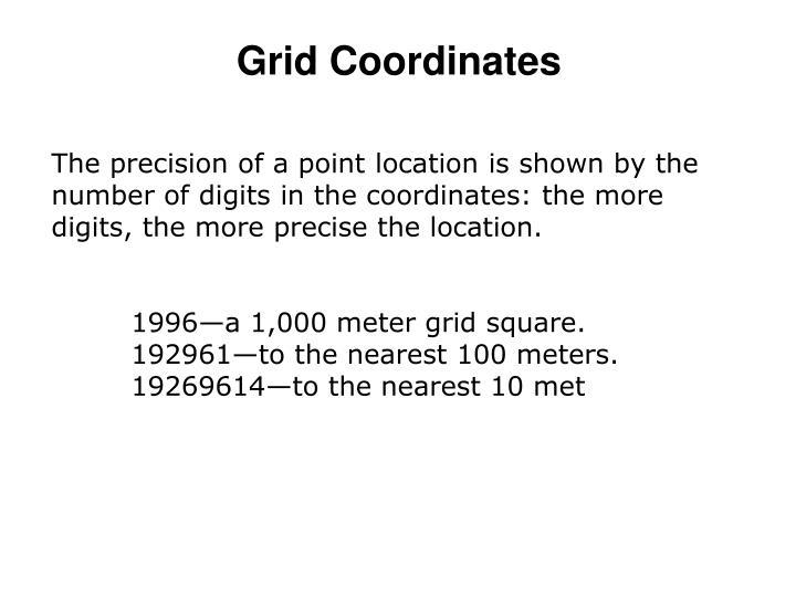 Grid Coordinates