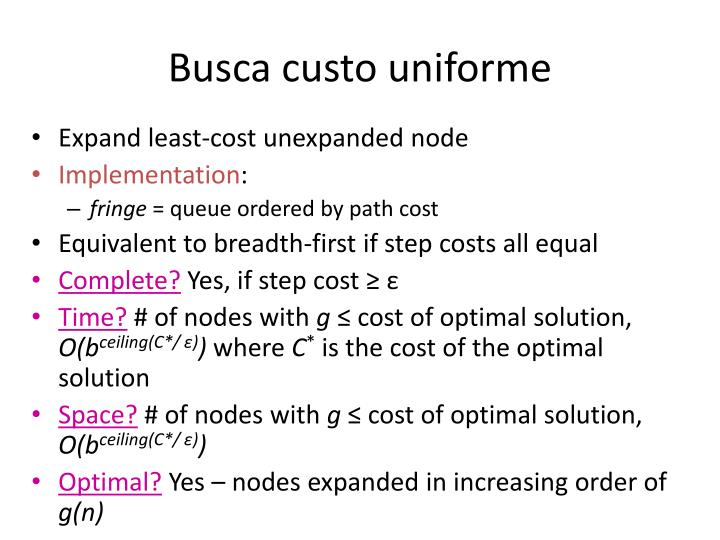 Busca custo uniforme