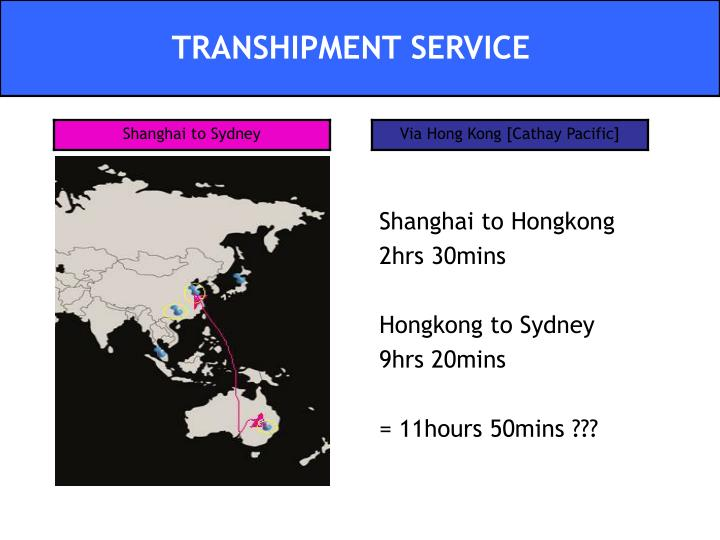 Shanghai to Hongkong