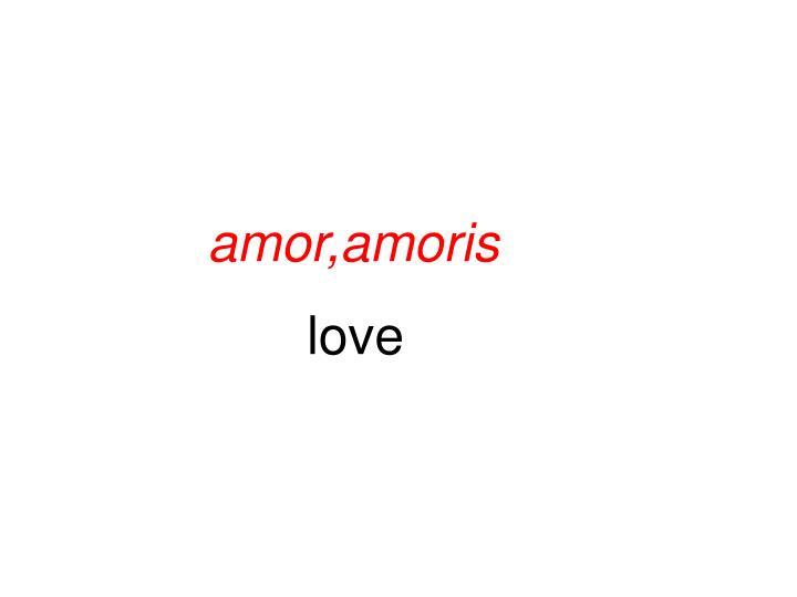 amor,amoris