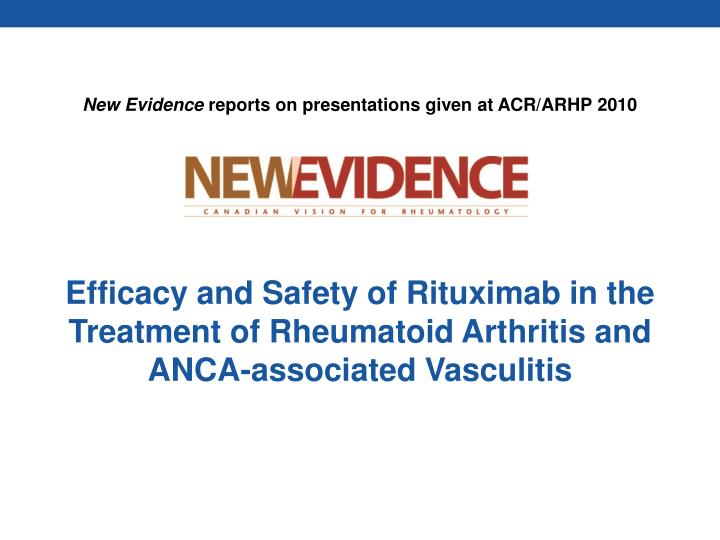 PPT - Efficacy and Safety of Rituximab in the Treatment of