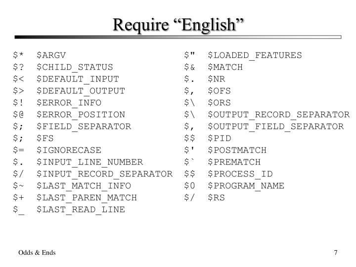 "Require ""English"""