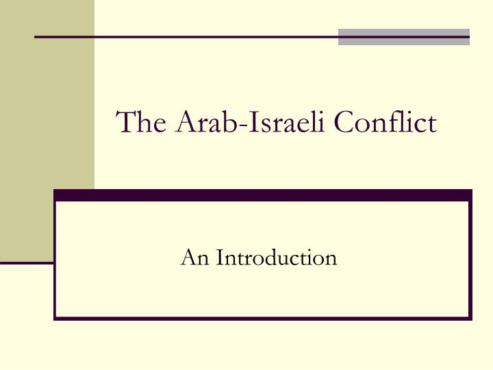 conflict resolution in the arab world selected essays