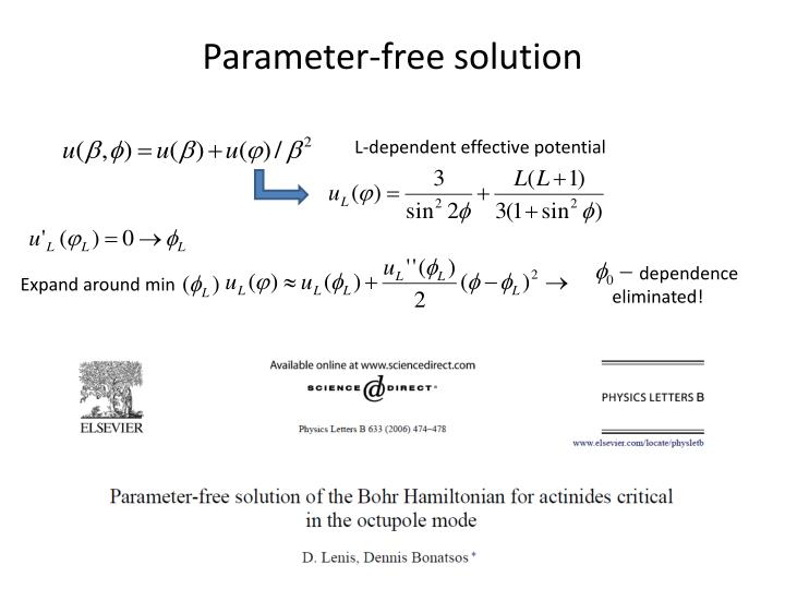 Parameter-free solution
