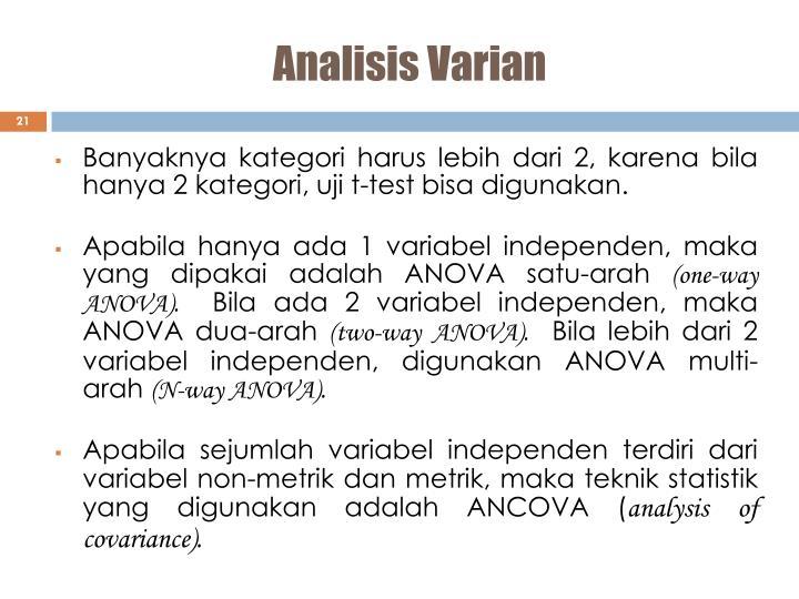Analisis Varian