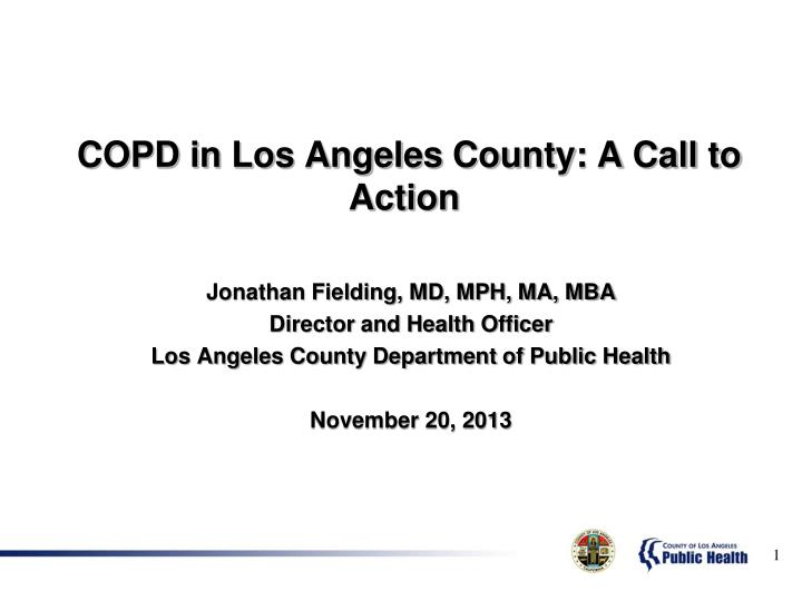 copd in los angeles county a call to action n.