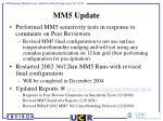 mm5 update