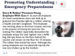 promoting understanding emergency preparedness1