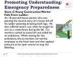 promoting understanding emergency preparedness2