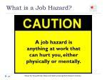 what is a job hazard
