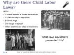 why are there child labor laws
