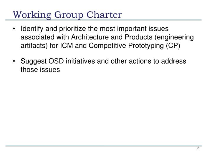 Working group charter