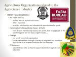 agricultural organizations related to the agriscience industry3