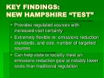 key findings new hampshire test