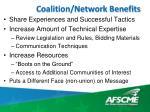 coalition network benefits