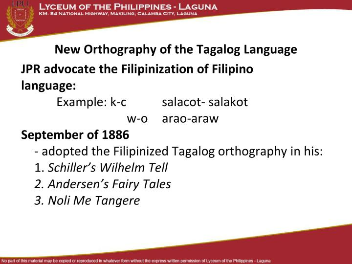 on the new orthography of the tagalog language Albanian citations albanian links select a new language number  was submitted for discussion to the congress on orthography of the albanian language held in.