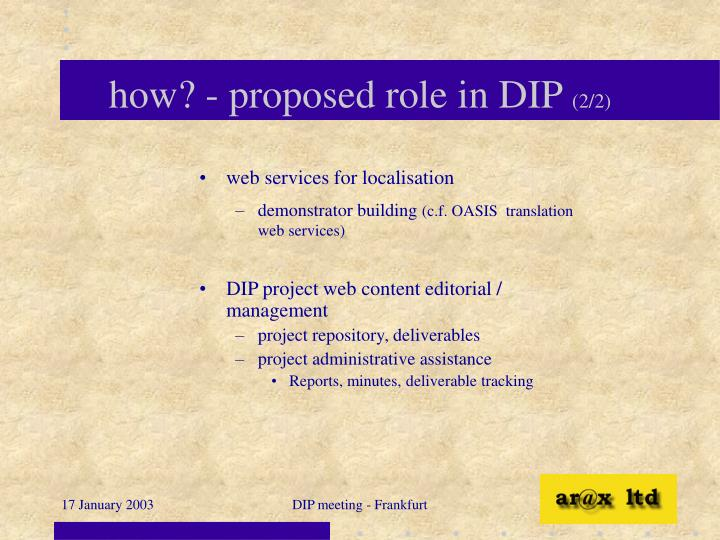 how? - proposed role in DIP