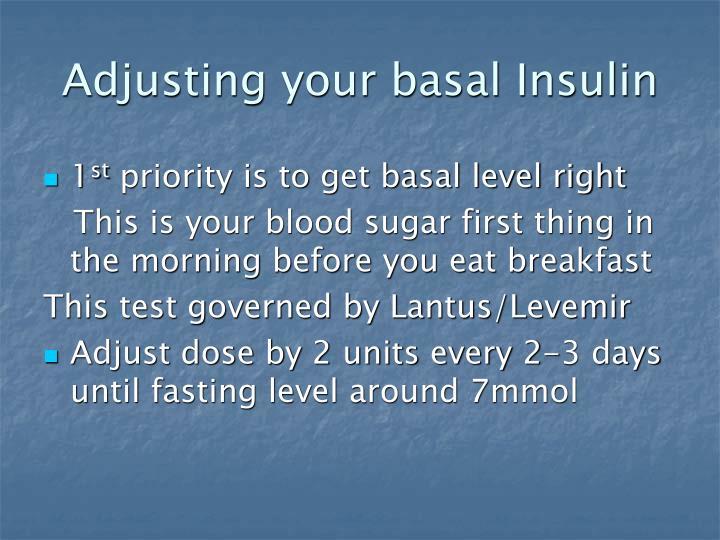 Adjusting your basal Insulin