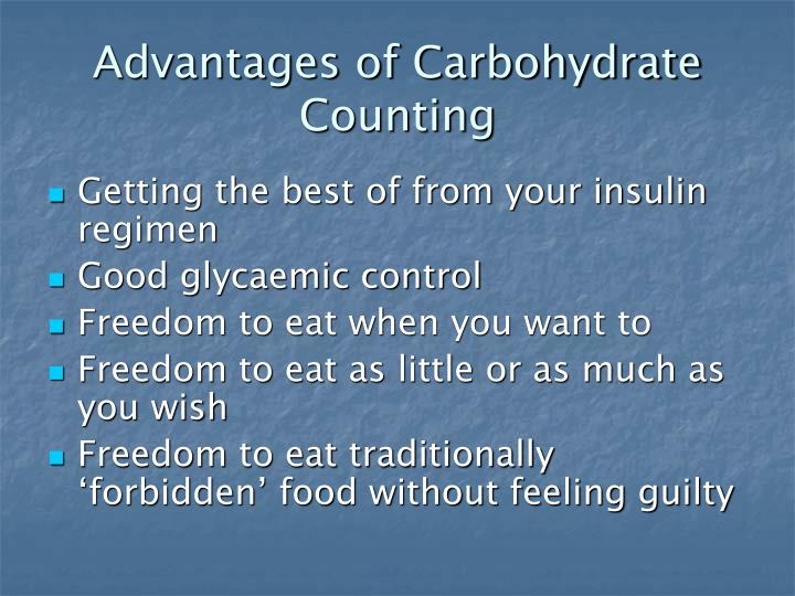 Advantages of Carbohydrate Counting