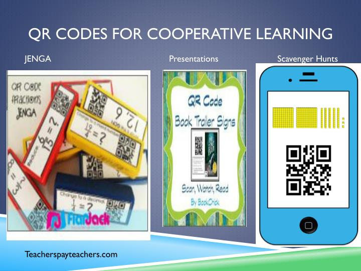 QR codes for cooperative learning