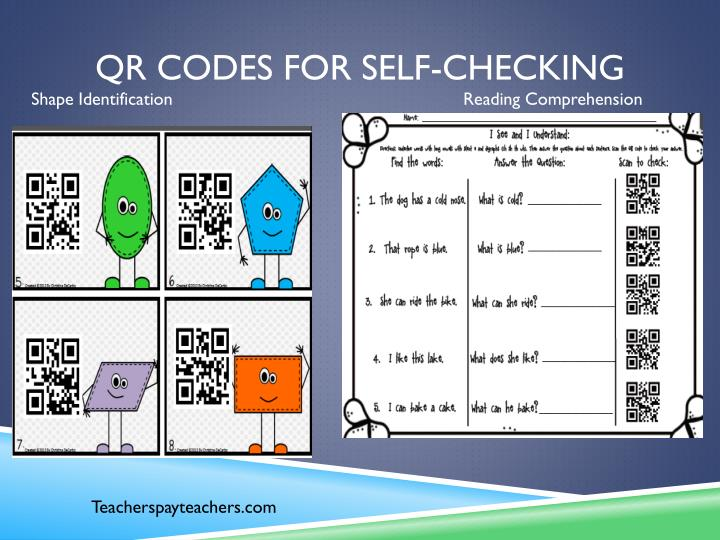 QR codes for self-checking