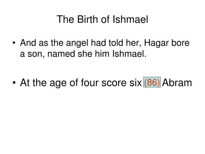The Birth of Ishmael