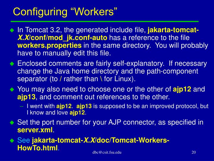 """Configuring """"Workers"""""""