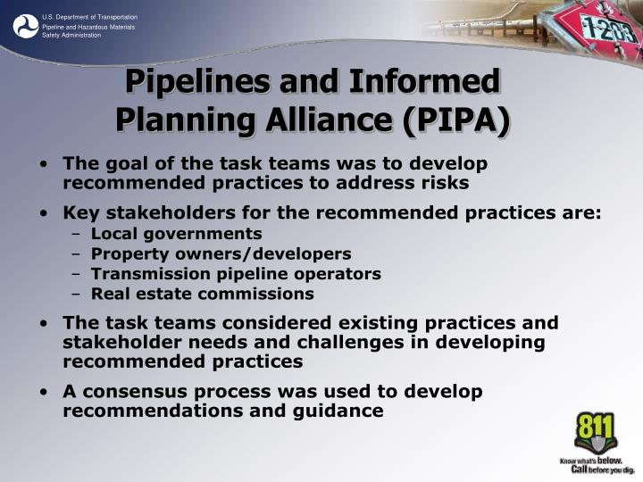 The goal of the task teams was to develop recommended practices to address risks