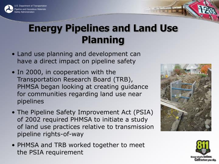 Energy Pipelines and Land Use Planning