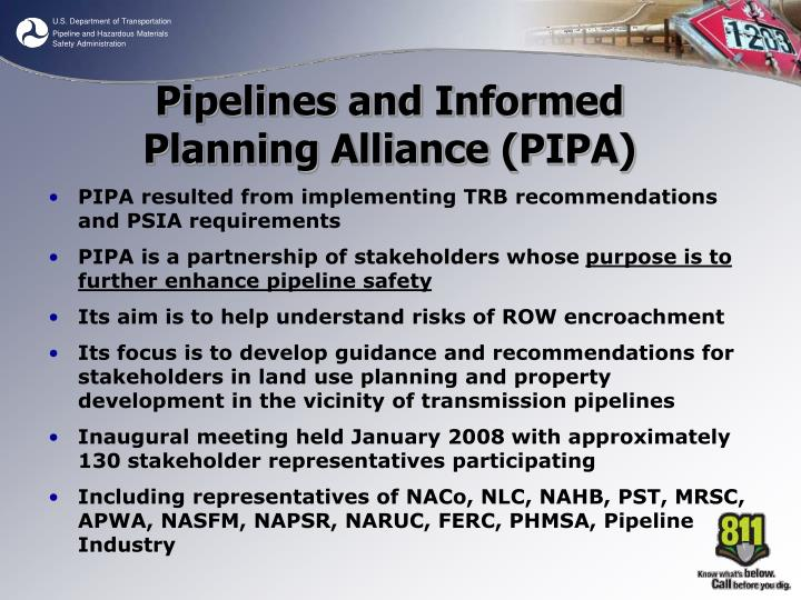 PIPA resulted from implementing TRB recommendations and PSIA requirements
