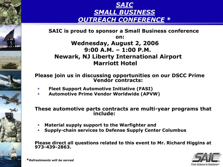 Saic small business outreach conference