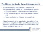 the alliance for quality career pathways cont