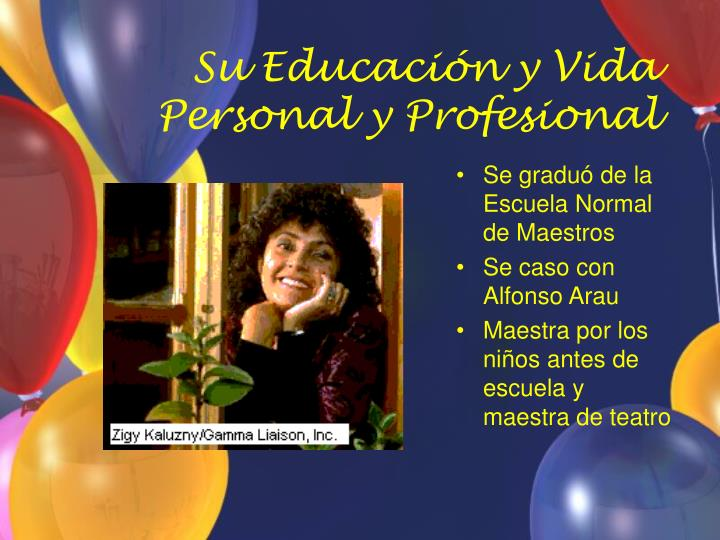 Su educaci n y vida personal y profesional