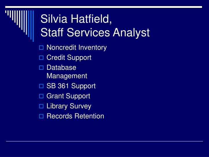 Silvia Hatfield,