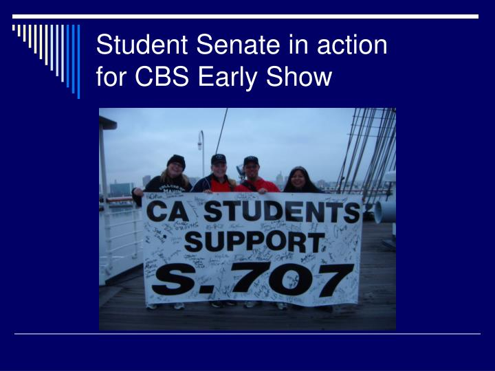 Student Senate in action