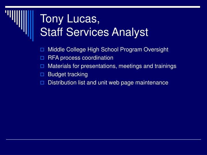 Tony Lucas,