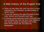 a little history of the english pub