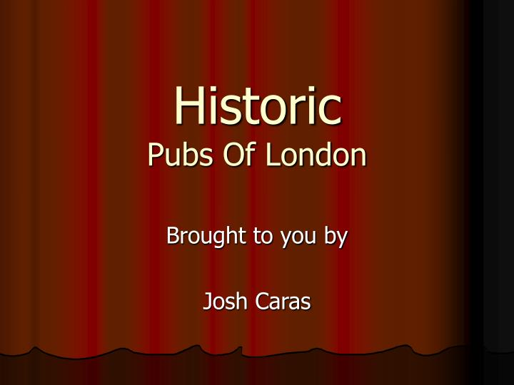 historic pubs of london n.