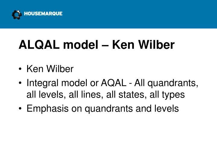 ALQAL model – Ken Wilber