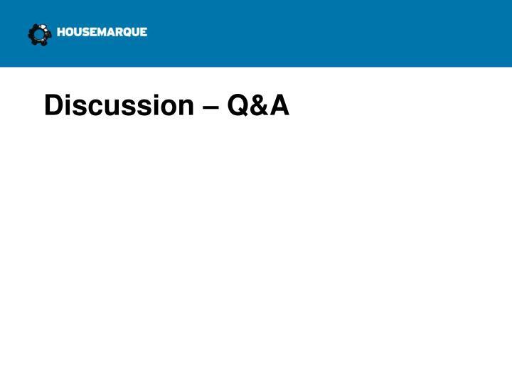 Discussion – Q&A
