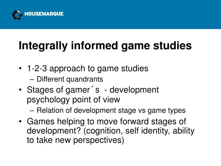 Integrally informed game studies