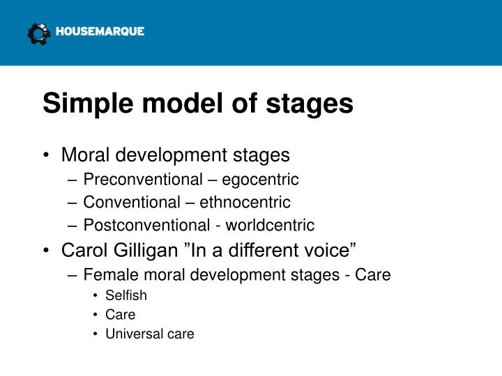 Simple model of stages
