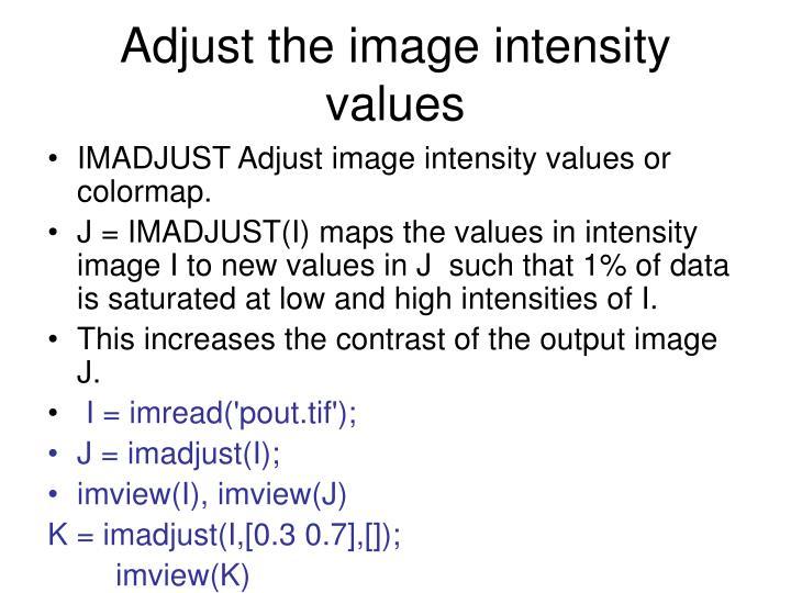 Adjust the image