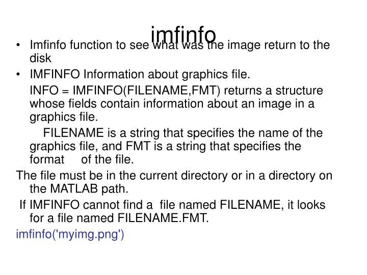 imfinfo