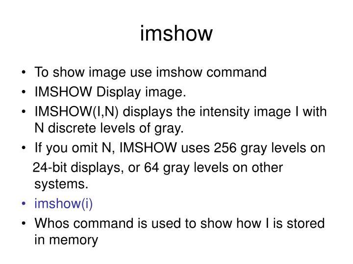 imshow