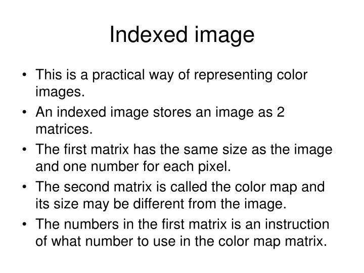 Indexed image