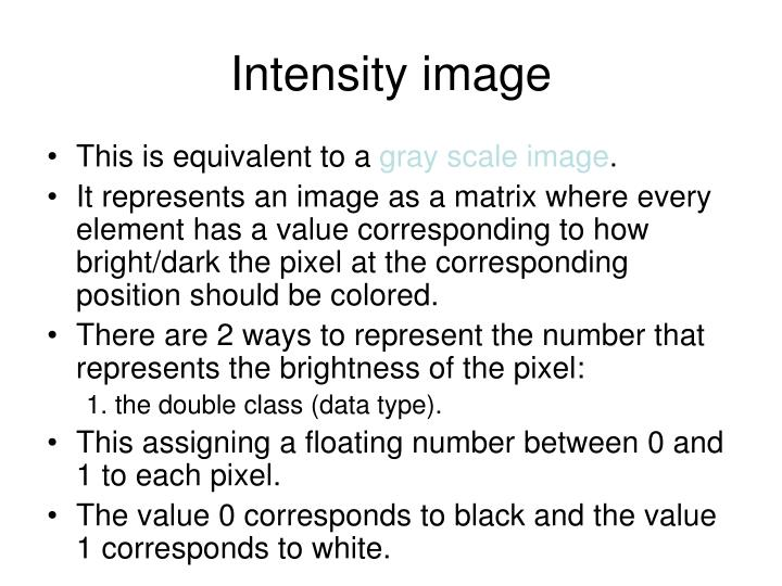 Intensity image